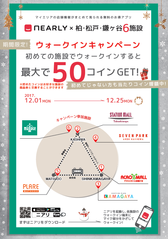☆NEARLY ウォークインキャンペーン ~12/25☆