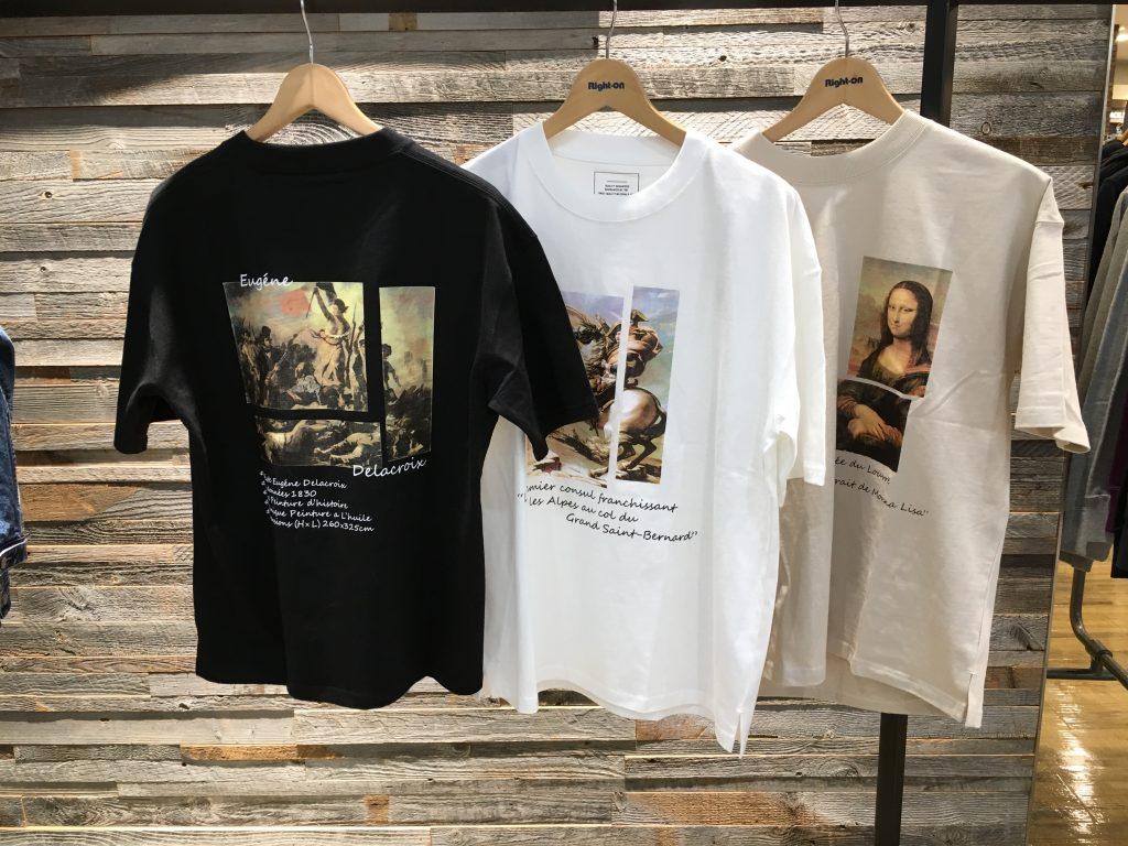 〈ライトオン〉メンズ アートなTシャツ