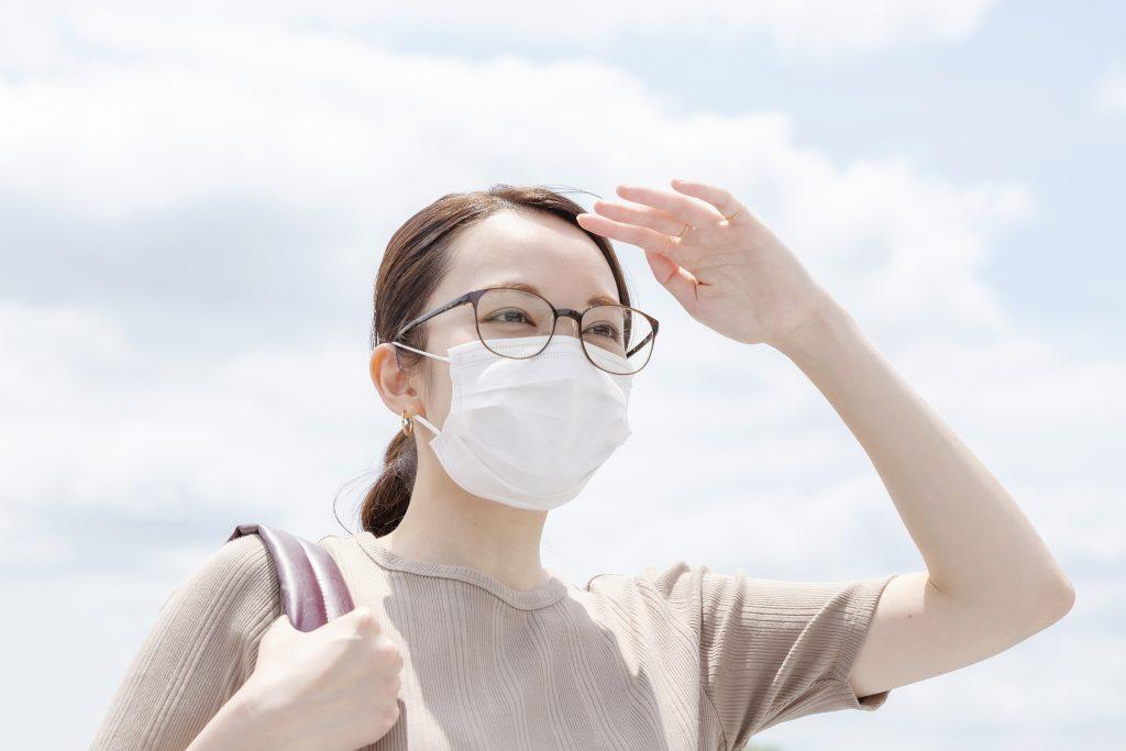 【Zoff】透明なUVカットレンズ付きメガネ?マスク